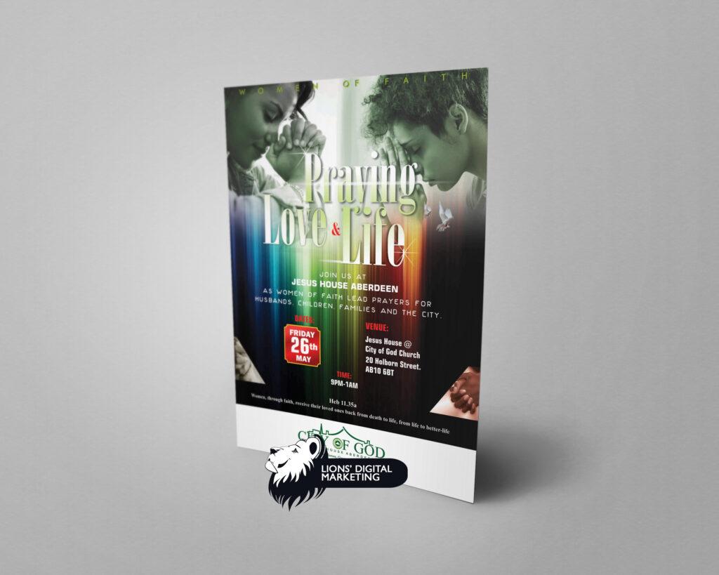 Flyer graphic design Aberdeen for COG
