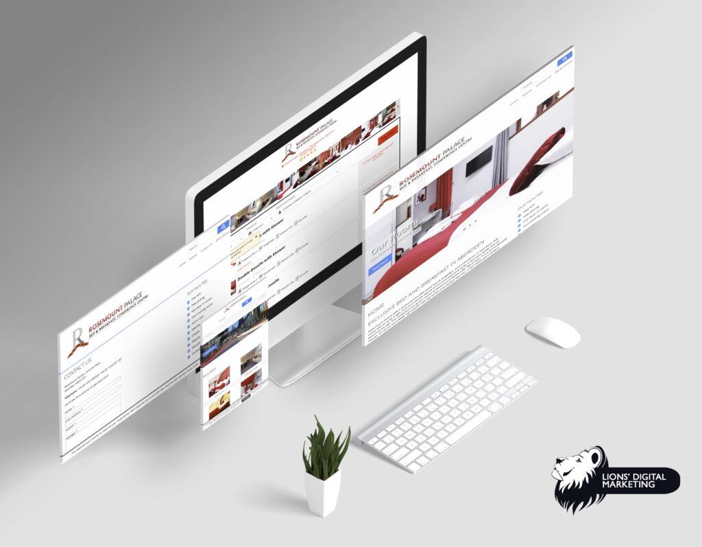 Website design and management Aberdeen for RP