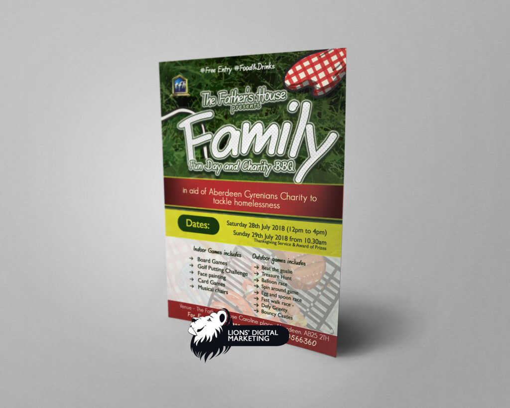 BBQ funday flyer design and print Aberdeen