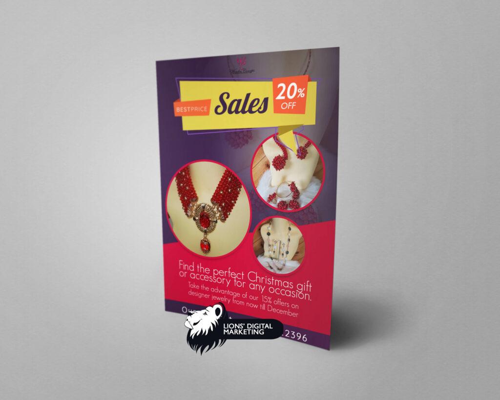 Flyer design for wonder concept sales Aberdeen
