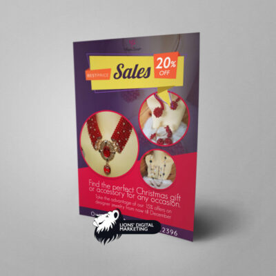 Flyer design for wonder concept sales Aberdeen