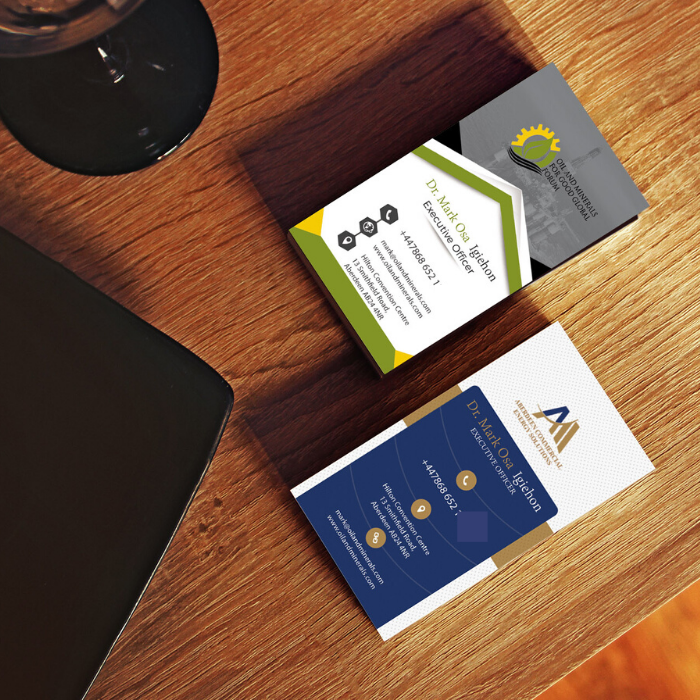 Business card design and print Aberdeen for ACES