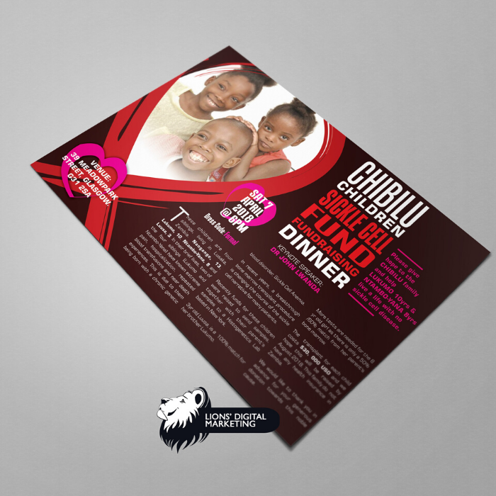 Folded flyer graphic design and print Aberdeen