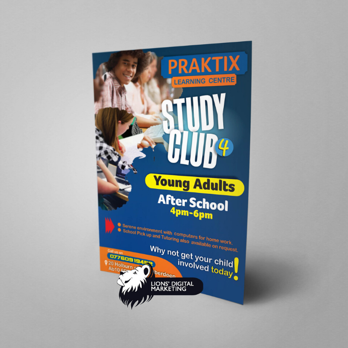 Praktix flyer design and print Aberdeen