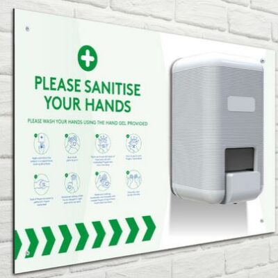 Wall mount sanitizer station