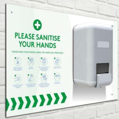 Wall mount sanitizer station